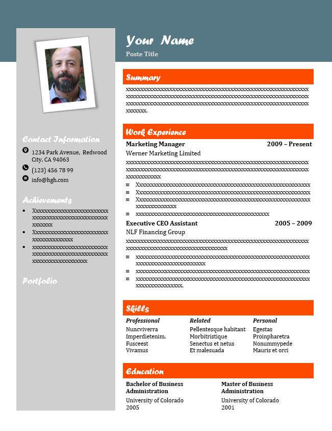 CV template Word