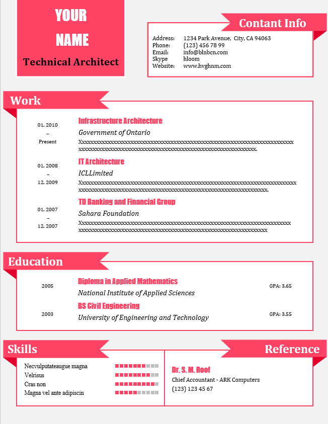 CV word template