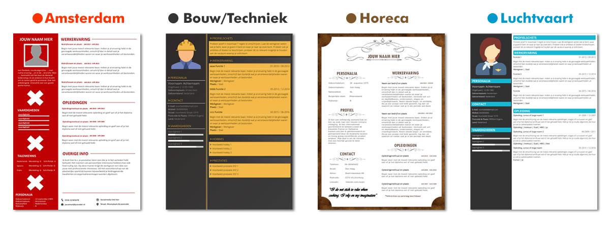 CV template op maat laten maken