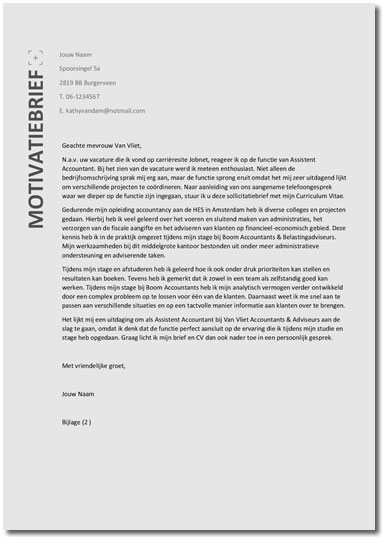 Tips Motivatiebrief | hetmakershuis