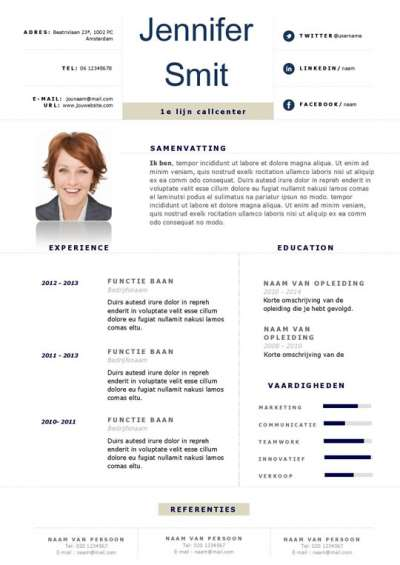 Professionele Word cv inclusief motivatiebrief