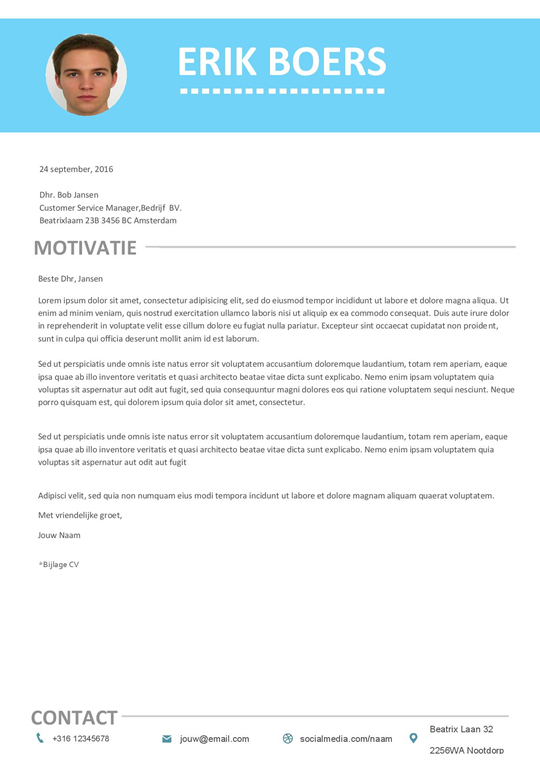 Gratis Download: minimale cv + motivatiebrief met een