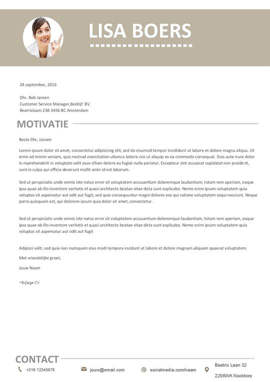 Gratis Download: minimale cv met motivatiebrief voor een