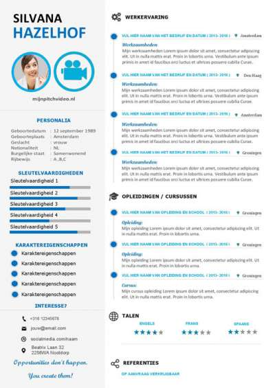 Interactief solliciteren met dit video cv template