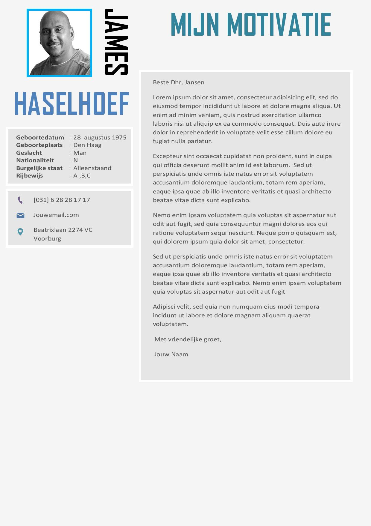 lettertype motivatiebrief Professionele Word cv inclusief motivatiebrief lettertype motivatiebrief