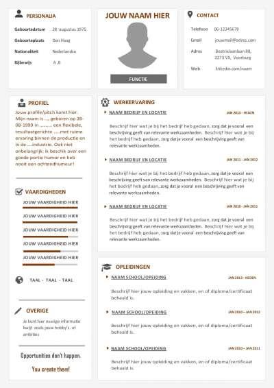 Verhoog je kans op een sollicitatiegesprek met dit multifunctionele CV