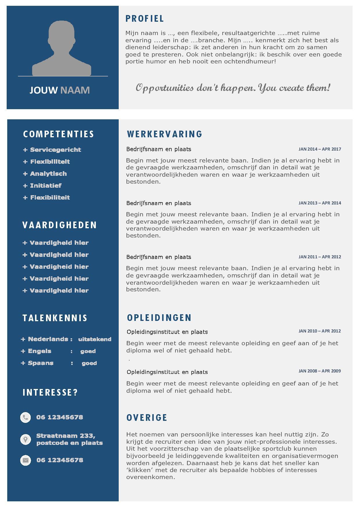 Administratie Word format