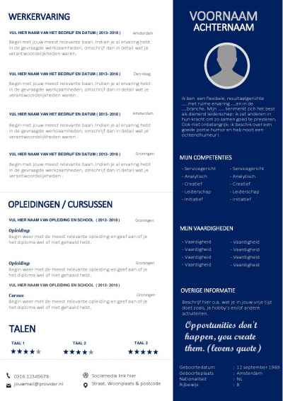 Modern CV Template In Word Format