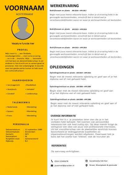 Download dit CV format en maak een perfecte eerste indruk!