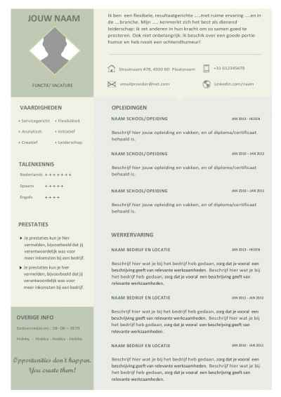 Cv template office